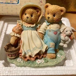 NIB 1993 Jack & Jill Cherished Teddies Figurines